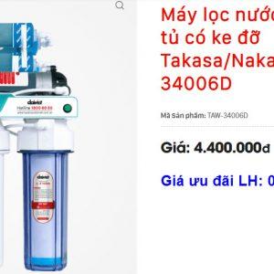 Giá máy lọc nước RO không vỏ Takasa/Nakami TAW-34006D tại Nghệ An và Hà Tĩnh