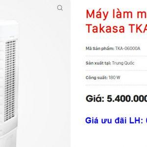 Giá máy làm mát không khí Takasa TKA-06000A tại Nghệ An và Hà Tĩnh 1