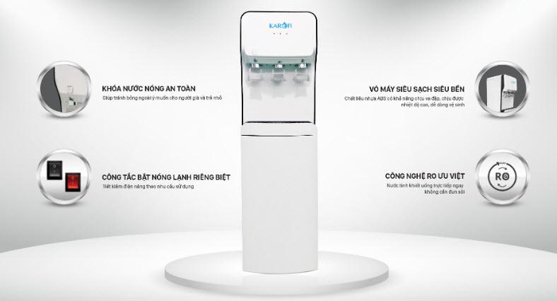 Máy lọc nước nóng lạnh Karofi HC18RO 2