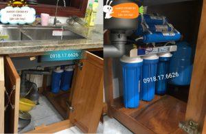 Lắp đặt hệ thống máy lọc nước Karofi Ero 80 tại nhà chị Đào (gần sân bay Vinh) 1