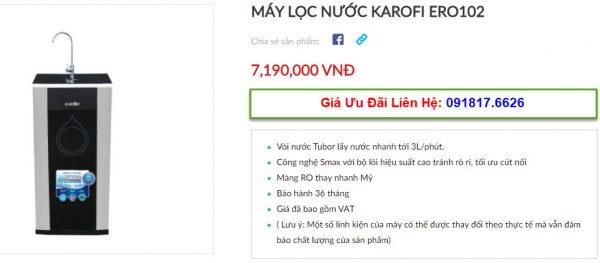Đại lý bán máy lọc nước Karofi ERO102 tại TP Vinh, Nghệ An giá tốt nhất