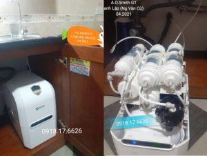T4/2020: Lắp đặt máy lọc nước A.O.Smith G1 nhà anh Lập đường Nguyễn Văn Cừ